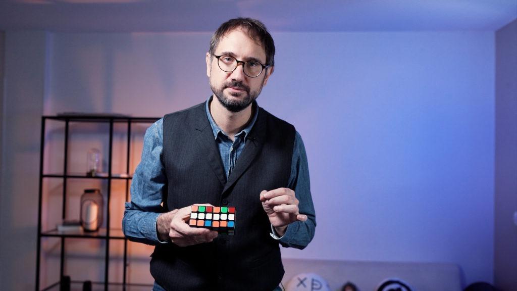 spectacle mentalisme digital rubiks cube